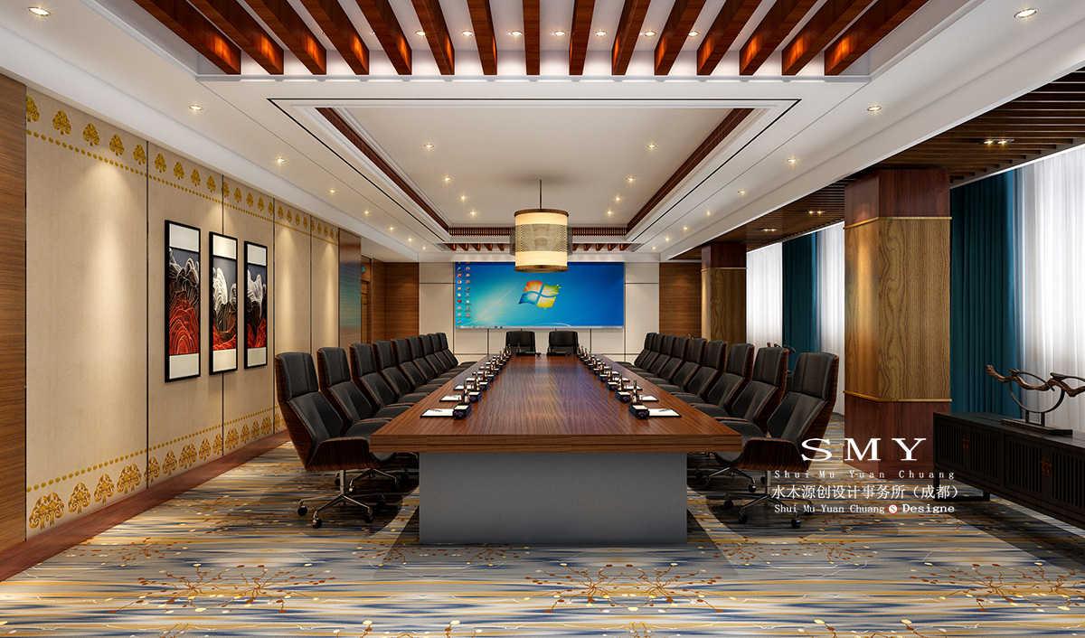 藏式主题酒店会议室设计效果图