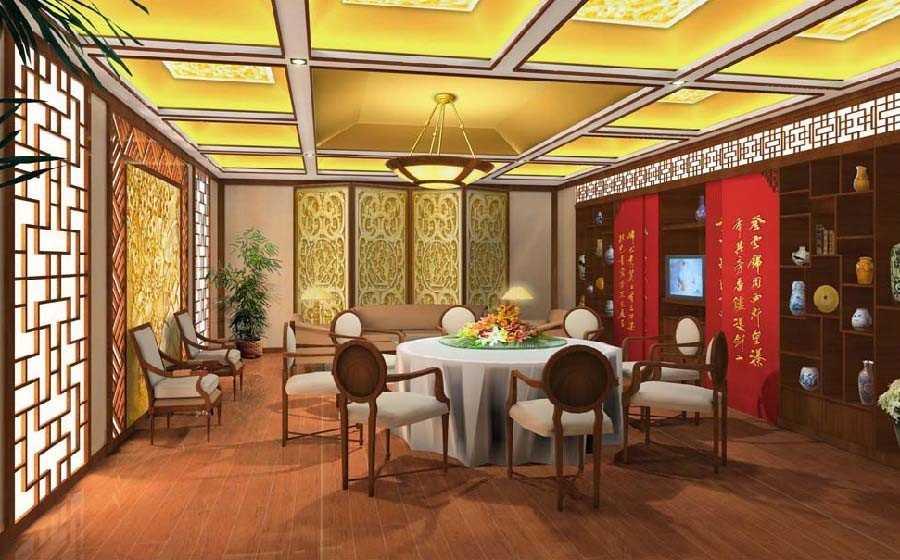 新中式酒店设计依据,中式风格酒店包厢设计